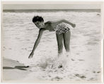 [Woman Marine at the beach, circa 1955]
