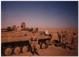 "[M.V.""Ginger"" Jacocks with a disabled tank, circa 1990]"