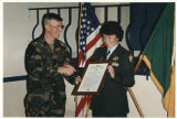 [Ellen Peebles receiving her promotion, circa 1995]
