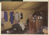 [Interior of army living quarters tent, Saudi Arabia, 1991]