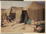 [Exterior of living quarters tents, Saudi Arabia, 1991]