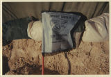 [Photograph of 312th Evacuation Hospital flag, Saudi Arabia, 1991]