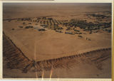 [Bird's eye view of 312th Evacuation Hospital camp, Saudi Arabia, 1991]