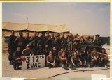 [Informal portrait of members of 312th Evacuation Hospital, Saudi Arabia, 1991]
