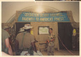 "[U.S. Army service members with ""Operation Desert Farewell, Farewell To America's..."