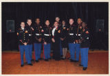 [Photograph of Tavia Brightwell with other Marine Corps Officers, 2010]