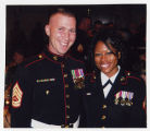[Photograph of Tavia Brightwell at the Marine Corps Ball, 2010]