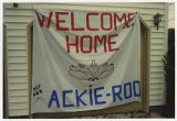 [Photograph of a banner made for Jacqueline Edmunds homecoming]