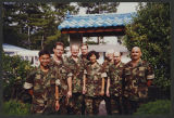[Group photograph featuring Lieutenant Commander Elizabeth Taggart in South Korea, 1999]