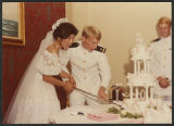 [Photograph of the wedding of Ensign Elizabeth Taggart and Christopher Taggart, 1983]