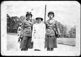 [Margaret Reeve with two WACs, 1944]