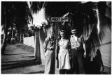 [Mary Jane Vaughn DeWan with brother and cousin in New Guinea, circa 1944]