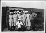 [Medical staff outside field hospital, circa 1944]
