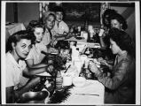 [WACs dining in the mess hall, circa 1945]