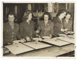 [WACs in mess hall, circa 1944]