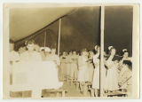 [Army and Army Nurse Corps at worship service, India, 1945]