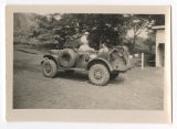 [Army Nurse and two male service members in army vehicle, Fiji, circa 1942-1945]