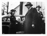 [Nina Greenlee shaking hands with Governor of SC, circa 1945]