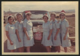 [Rita Barbraitis posing with Red Cross workers at Base Camp Cu Chi, Vietnam, 1968]