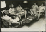 [Rita Barbraitis meeting with fellow Red Cross workers]