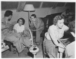 [Checkers at Red Cross Club in Japan, circa 1946]