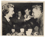 [Ruth White hands out doughnuts and coffee, circa 1946]