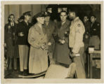 [Major General Harmon Speaking to a Soldier]