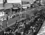 [V-J Day Parade on Elm Street]