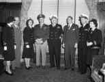 [Joseph Bryan with Naval Officers on Navy Day]