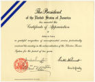 WWII -- Selective Service -- Printed -- Certificates [McDaniel Lewis papers]