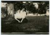 [Two women on the lawn]