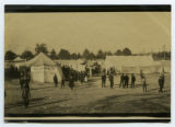 [Exhibition tents at the fairgrounds]