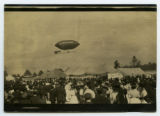 [Blimp above the fairgrounds]