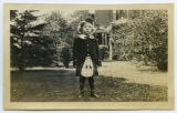 [Little girl in Scottish dress]