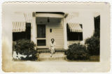 [Beth Pucket on the Front Porch, Puckett Family Papers]