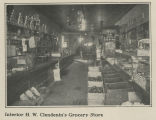 Interior H.W. Clendenin's grocery store