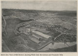 Bird's eye view of Mill District, showing White Oak, Revolution, and Proximity Mills