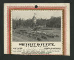 [Whitsett Institute 1909 calendar]