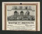 [Whitsett Institute 1910 calendar]