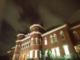 [Foust Building at night]