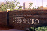 University of North Carolina at Greensboro sign