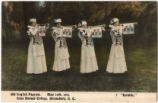 [Postcard of pageant characters on May Day]