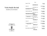 2014-03-03 Viola Studio [recital program]