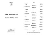 2006-11-16 Oboe Studio [recital programs]
