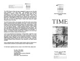 2004-01-29 Time [recital program]