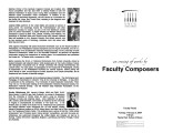 2004-02-03 Faculty Composers [recital program]