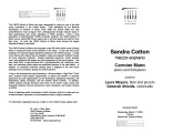 2004-03-17 Cotton Mann [recital program]