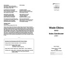 2004-03-22 Elkins Zandmane [recital program]