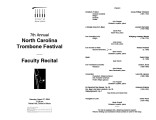 2004-03-27 NC Trombone Festival [recital program]