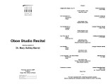 2004-04-15 Oboe Studio [recital program]